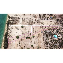 Land 7 rai for sale on the beach in Thap Sakae