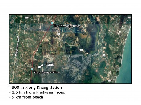 Terrain 2 rai 186 t.w. à vendre à Nong Khang – Sam roi yot