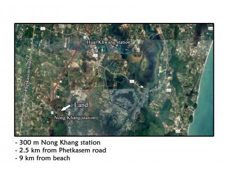 Terrain 2 rai 185 t.w. à vendre à Nong Khang – Sam roi yot