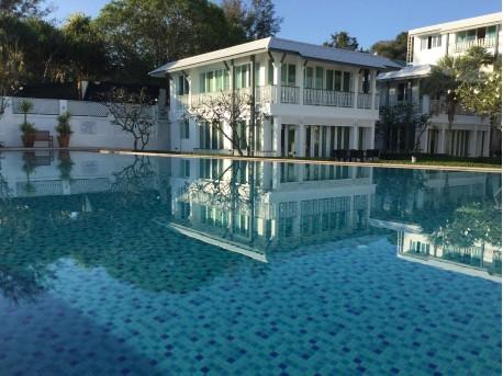 Pool villa on the beach
