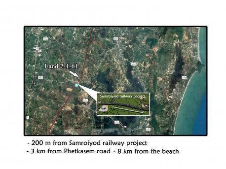 Terrain 7 Rai 161 T.W. à vendre à Pranburi