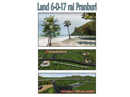 Land 6 rai 17 T.w. for sale in Pranburi
