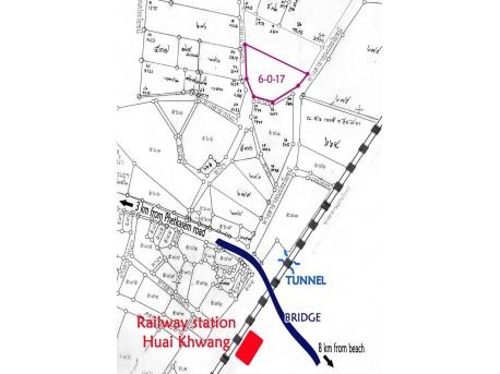 Terrain 6 Rai 17 T.W. à vendre à Pranburi
