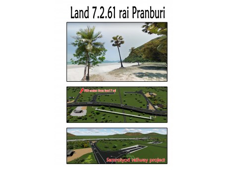 Land 7 rai 261 T.w. for sale in Pranburi