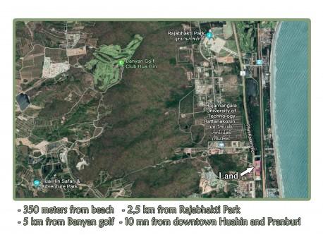 Terrain 15 Rai 333 T.W. à vendre à Hua Hin