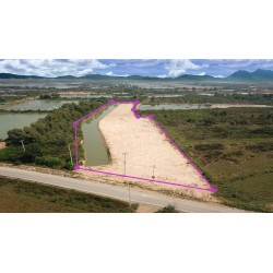 Lake land 6 rai for sale in Pranburi