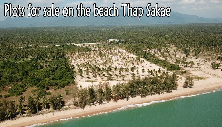 Land 44 rai beach side for sale in Thap Sakae