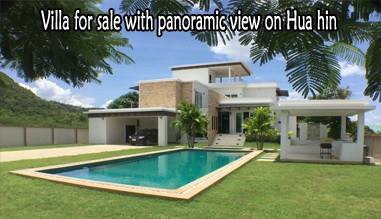 Villa with a panoramic view on Hua hin bay